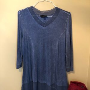 Charlie Paige Blue Tunic Top